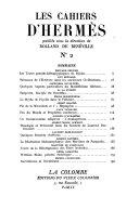 Les cahiers d'Hermès, Les lettres françaises et la tradition, n°1