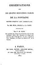 Fables de la Fontaine, 4 volumes