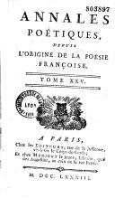 Annales poétiques ou almanach des muses, 9 tomes
