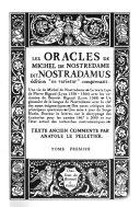 Les oracles de Michel de Notredame dit Nostradamus
