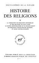 Histoire des religions, tome 2