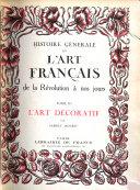 Histoire générale de l'art français, 3 volumes
