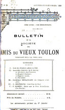 Bulletin de la société des amis du vieux Toulon et de sa région, n°121
