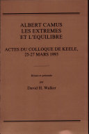 Albert Camus, Essais