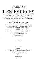 L'origine des espèces, tome 1