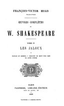 William Shakespeare, Oeuvres complètes, les 8 Tomes