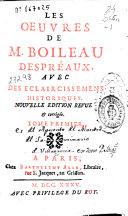 Les oeuvres de Boileau Despreaux, 2 tomes