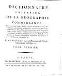 Etat des colonies et du commerce (2 tomes)