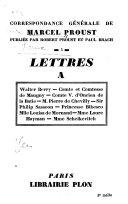 Correspondance générale de Marcel Proust