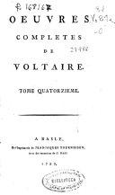 Contes et romans de Voltaire, tome III