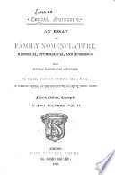 english essay etymological family historical humorous nomenclature surname Loading english surnames an essay on family nomenclature, historical, etymological, and humorous with several illustrative appendices an essay on family nomenclature, historical, etymological, and humorous with several illustrative appendices.
