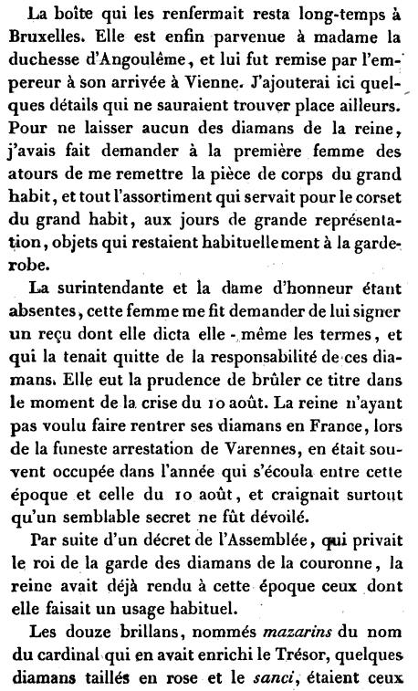 Bijoux de Marie-Antoinette : inventaire des parures, diamants et perles envoyés à Bruxelles durant la Révolution Content?id=j1IvAAAAMAAJ&hl=fr&pg=PA317&img=1&zoom=3&sig=ACfU3U334YgITAtZ9RQ70QRmFEIbLqJyvQ&ci=47%2C151%2C797%2C1317&edge=0