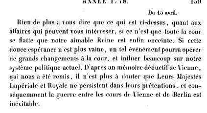 La première grossesse de Marie-Antoinette, selon les Mémoires Secrets ... Books?id=x1JPEptEMCIC&hl=fr&hl=fr&pg=PA159&img=1&zoom=3&sig=ACfU3U1O7kTZIqC6AfrI7bYezNRzpW2ENg&ci=93%2C140%2C734%2C404&edge=0