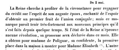 La première grossesse de Marie-Antoinette, selon les Mémoires Secrets ... Books?id=x1JPEptEMCIC&hl=fr&hl=fr&pg=PA165&img=1&zoom=3&sig=ACfU3U3__i6hNtReK2wi0hRuOMRTotBQpg&ci=112%2C477%2C721%2C302&edge=0
