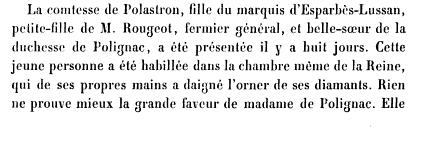 Louise d'Esparbès de Lussan, comtesse de Polastron Books?id=x1JPEptEMCIC&hl=fr&hl=fr&pg=PA344&img=1&zoom=3&sig=ACfU3U3UCwadFjEwuQ0rvtHSFeDggfLU-w&ci=159%2C1185%2C755%2C255&edge=0